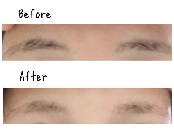 眉毛ビフォアフ